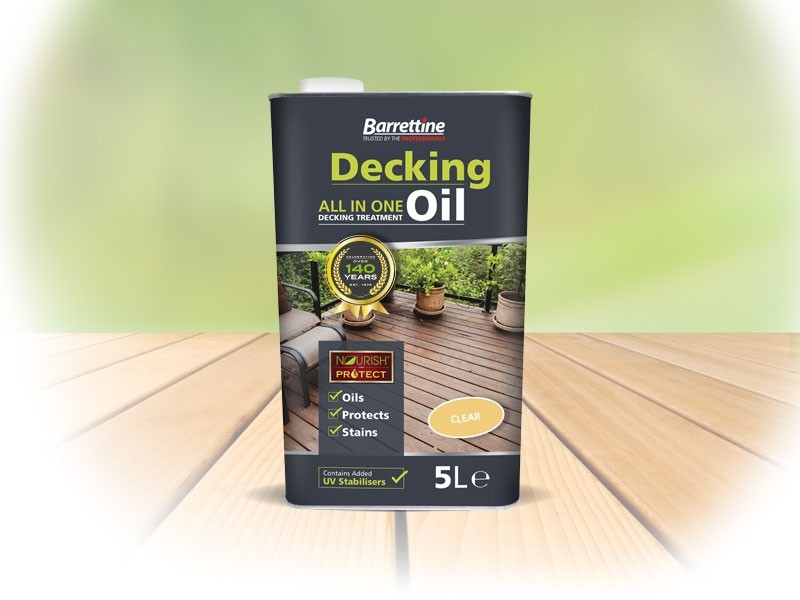Decking oil clear