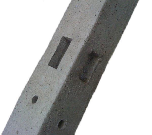 morticed concrete corner post