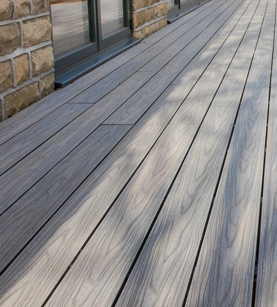 Antique composite decking