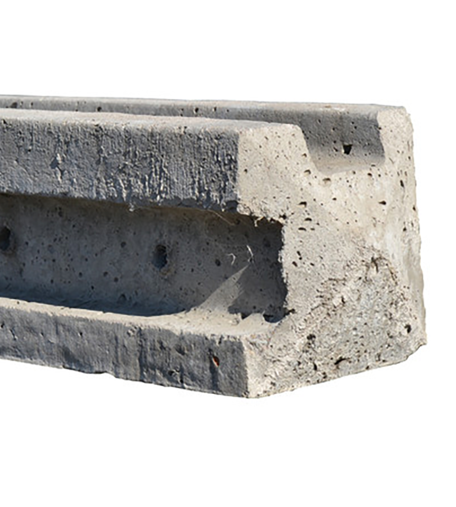 slotted concrete corner post