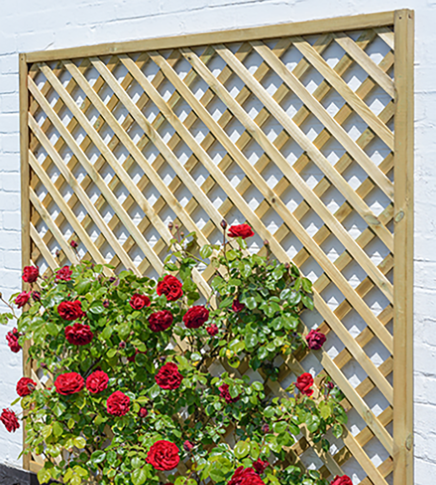 Heavy duty diamond trellis