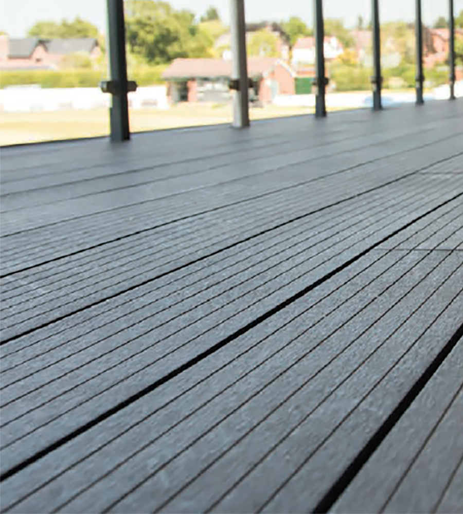 Lava composite decking