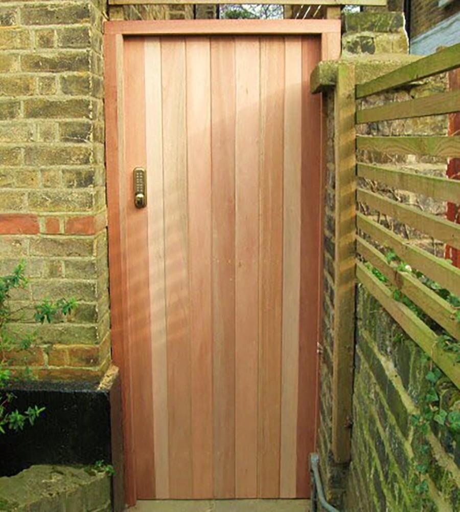Meranti or cedar tongue and groove gate