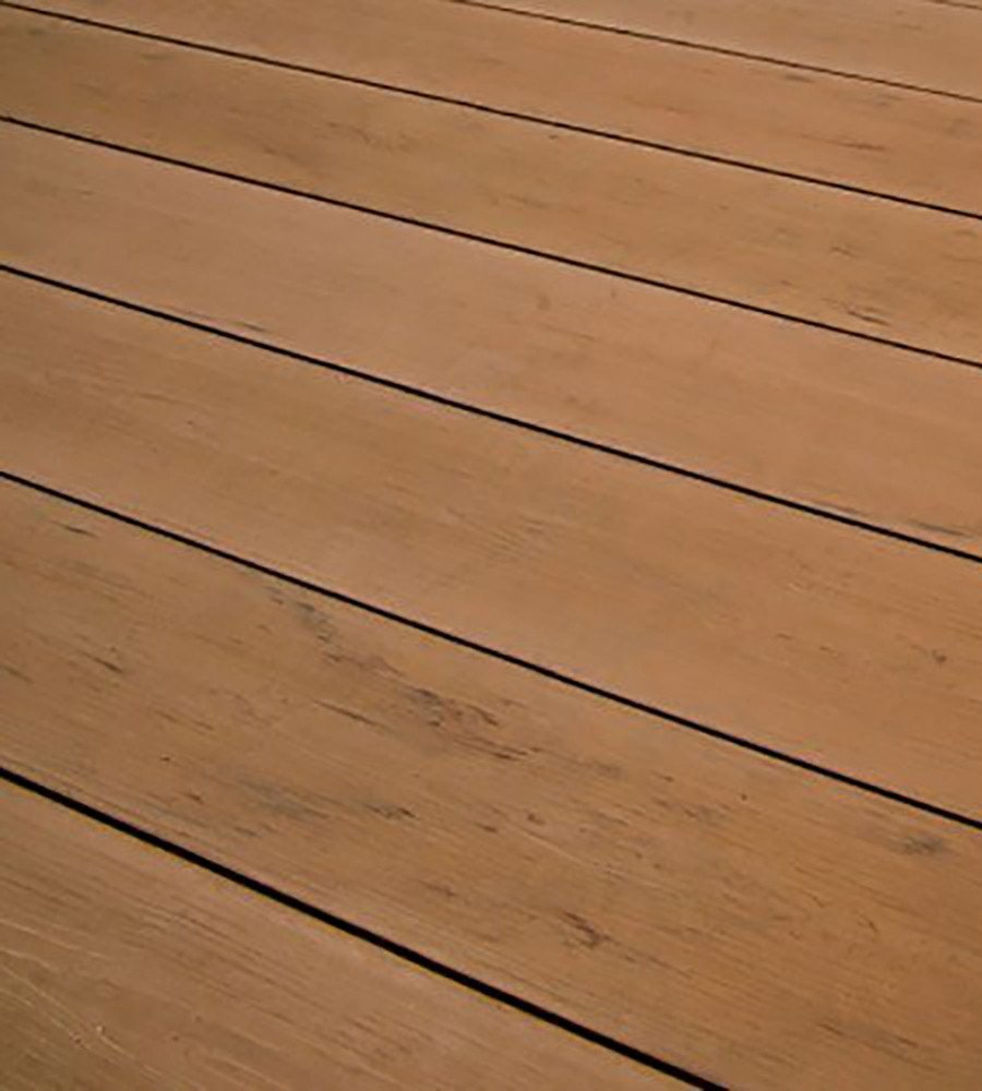 Natural oak composite decking