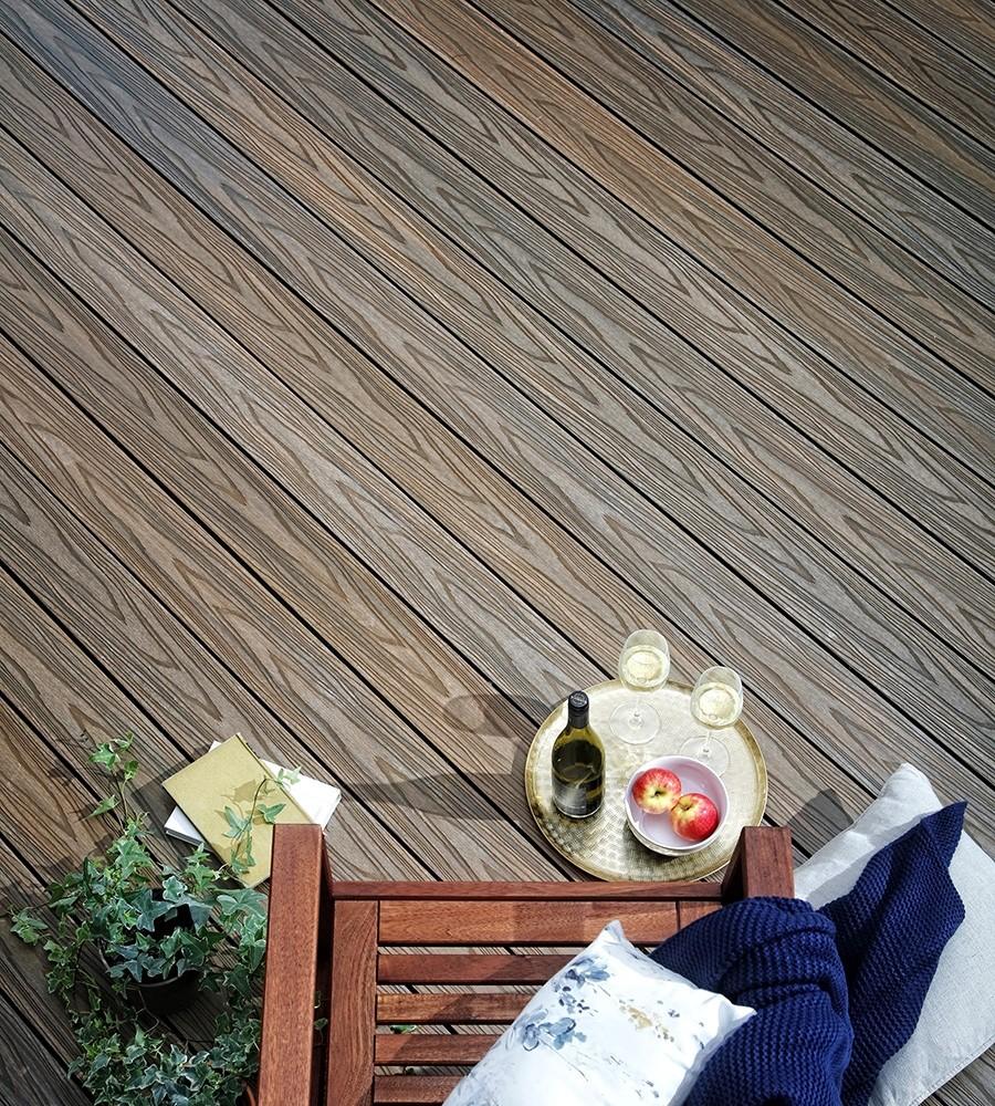 Oak composite decking