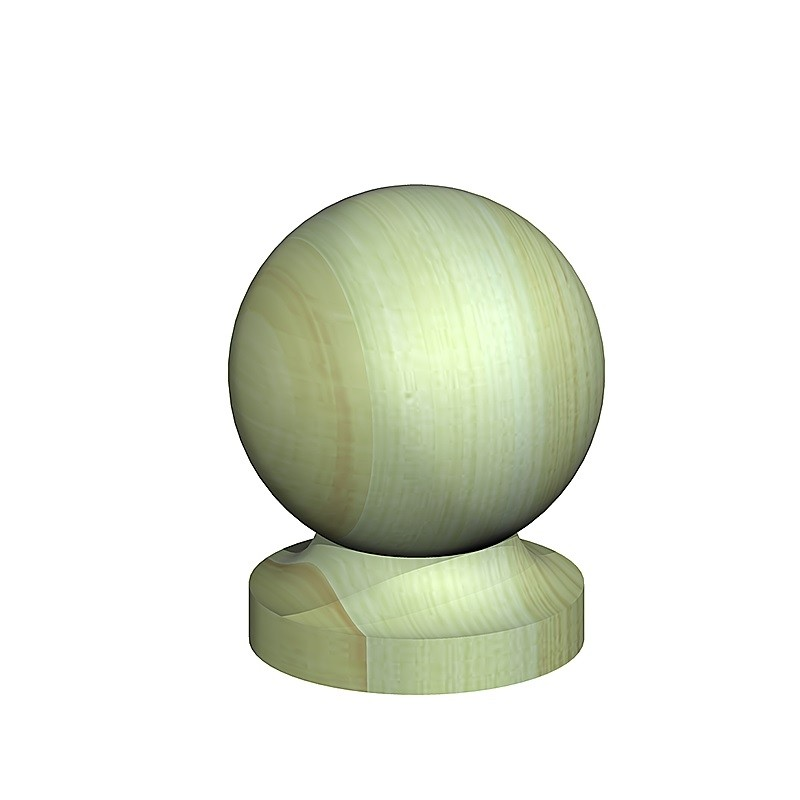 Wooden Ball Finial