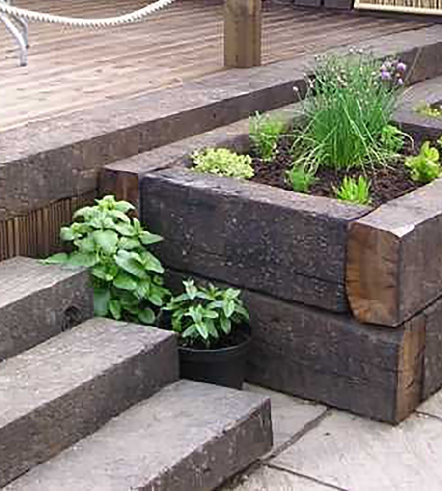 Reclaimed Grade A Railway Sleeper