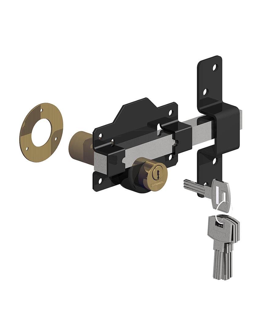 Rimlock double locking