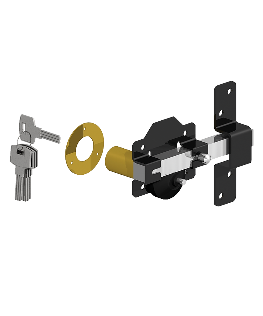 Rimlock single locking