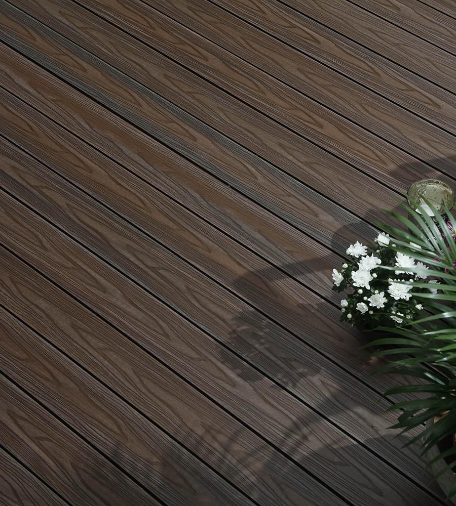 Walnut composite decking