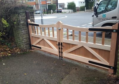 Bespoke meranti gates