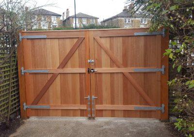Meranti driveway gates