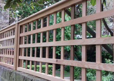 Meranti 100mm square framed trellis